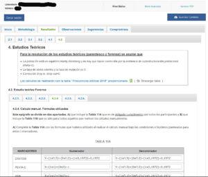 GHEP-ISFG - Ejercicio de intercomparación - Ejemplo de pantalla